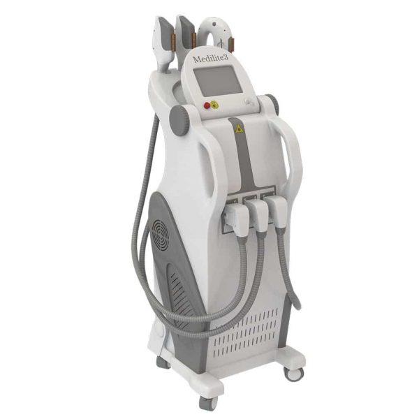 دستگاه لیزر موهای زائد بدن IPL SHR مدل Medilite 5- دارای ( 3Hand piece )