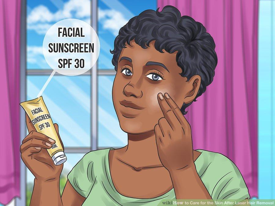 از پوست درمان شده در مقابل نور خورشید محافظت کنید