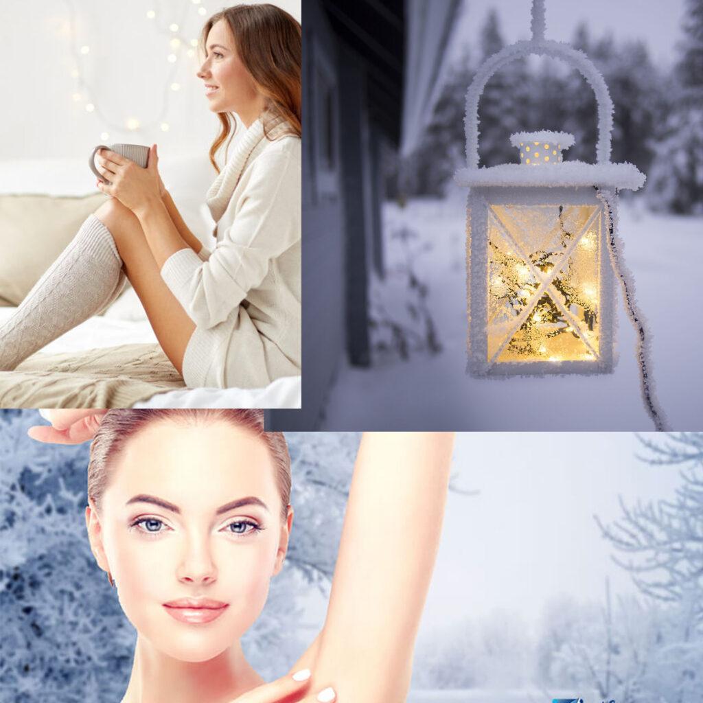 فصل زمستان و استفاده از دستگاه لیزر برای حذف موهای زائد